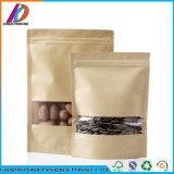 Packpapier-Fastfood- Verpacken- der Lebensmittelbeutel mit Reißverschluss-Verschluss