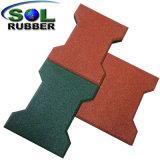 부유한 색깔 편리한 고무 포장 기계 마루
