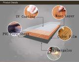 Carrelage en bois imperméable à l'eau de luxe de vinyle de PVC