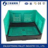 Caixa de pálete plástica exalada Foldable da higiene para o armazenamento