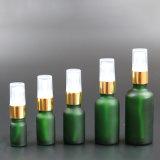 Bottiglia di olio glassata di vetro verde con la pompa della lozione, bottiglia del contagoccia (NBG25A)