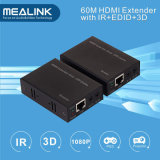 Mejor 60m HDMI Extender sobre un único cable Cat5e / 6 (BI-dirección IR + EDID)