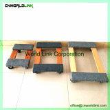 Pattino resistente del legno duro di rotolamento della gomma solida