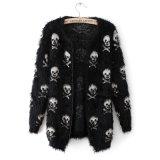 Roupa feita malha da camisola do casaco de lã do projeto Anti-Pilling angorá longa nova