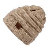 As mulheres em acrílico de baixa quantidade mínima de barato a tampa de malha de lã de inverno HAT