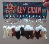 Sleutelring fh-6416-2 van de Schoenen van het Suède van Keychain van de Laarzen van de douane Mini