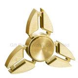 金のAdhdの心配の圧力手のおもちゃを取り除く銅の三角形の落着きのなさの紡績工