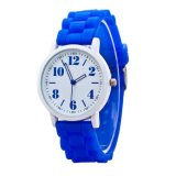 Silicone Women's Sport Clock Watchcasual Quartz Relógio de pulso