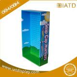 Présentoir promotionnel de produit d'étage de papier ondulé de mur de carton pour la position