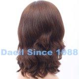 Pelo natural de la peluca del pelo humano de la mujer