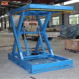 Table élévatrice stationnaire hydraulique de ciseaux de fret d'entrepôt