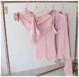 """Pijamas de seda """"sexy"""" Sy1030007 das mulheres 7PCS do Nightwear da roupa de noite das senhoras da roupa interior"""