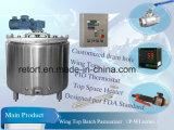 pasteurizador do grupo do aço 300L inoxidável para o Yogurt