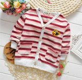 Wholesale를 위한 T1157 2015년 Newest Boys Cotton Striped 반대로 Pilling Lovely Long Sleeve Button Cardigan Boy Coat