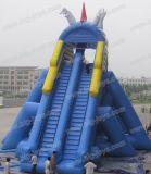 巨大で膨脹可能なカバのスライド、膨脹可能な二重車線のスリップのスライド(DJWS017)