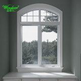 Vidro corrediço de PVC de alta qualidade com design Grill e superior em arco