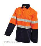 OEM Mans automne Hi-Vis Outdoor Vêtements de travail de la sécurité des vêtements de protection pour l'entreprise
