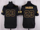 Pullover di gioco del calcio di Cleveland Patrick Murray Joe Haden Jim Brown Isaiah