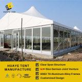 O Pico Alto luxo tenda de casamento com parede de vidro temperado
