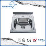 Topmount bol unique en acier inoxydable évier de cuisine (ACS6054)
