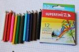 """Половинной длины 3,5"""" 12 цветных карандашей в бумагу, мини-цветных карандашей"""