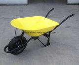 Carrello di gomma della riga della barra di rotella della carriola Wb7207 della Sudafrica