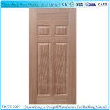 HDF Puerta moldeado de la piel con el teñido de enchapado de madera de teca.