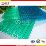 Panel de policarbonato hueco Hoja de construcción Paneles de techo