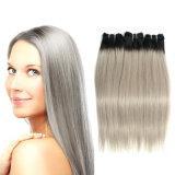 Neue Ankunft reales Remy Haar Menschenhaar-Extensions-Silber-im brasilianischen Frauen-Haar