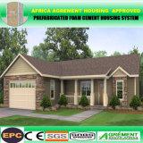 2 dormitorios prefabricaron el hogar prefabricado barato de las casas modulares de acero móviles