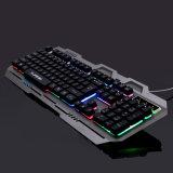 Красочные геймер подсветка клавиатуры с помощью конструкции из алюминиевого сплава (КБ-906-эль-C)