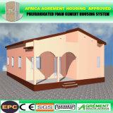 Casa di lusso modulare di vetro prefabbricata leggera economica prefabbricata del contenitore