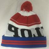 Мода жаккард вышивка трикотажные Red Hat с Флисовой