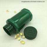 El verde de plástico de 250 ml de almacenamiento de hardware pequeños dulces de forma irregular de la herramienta de Jar Jar Capsule Bottle
