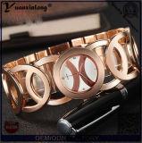 Обруч Weave кварца оптовой продажи Yxl-760 2016 вокруг кожаный wristwatch женщины вахты повелительницы Китая способа браслета