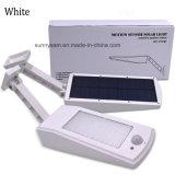 900lm Luz Solar de LED de iluminação impermeável ao ar livre para parede Jardim 48 Modos de quatro LEDs de luz solar poste rotativo