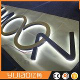 Signage van Lit van de Halo van de douane Achter