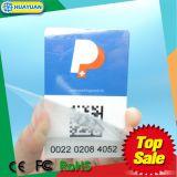 EPC GEN2 Ucode UHFのプラスチック印刷RFIDの駐車カードの付着力の風防ガラスのカード