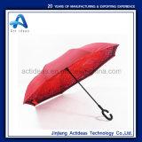 Het dubbel drukte Omgekeerde Omgekeerde Paraplu met het Handvat van de Vorm van C voor Bevordering af