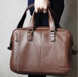 Saco de mão de couro genuíno homens na maleta de airbag passageiro