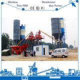 Planta de tratamento por lotes do cimento gêmeo ultramarino popular do eixo 75m3/H Hzs75 do certificado do Ce para a venda