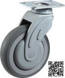 3/4/5 Zoll-Platten-Typ TPR medizinische Schwenker-Fußrolle
