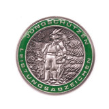 Borsa stampata del ricordo del metallo dell'aquila della moneta di sport di calcio della scheda di insieme dei membri
