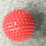 Massagem de PVC vermelho da esfera esfera de massagem de corpo inteiro de 9cm