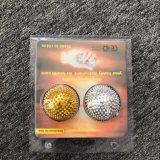 Las bolas de masaje magnético de la Acupuntura puntiagudos las bolas de color oro 4.7cm