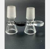 Mâle noir et blanc de tablettes 14.5mm, garnitures de pipe de narguilé de 18.8mm