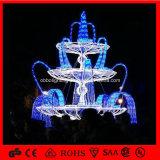 休日のアトリウムのショッピングモールの装飾のための軽いクリスマスLEDの噴水のモチーフライト