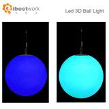 党ホテルの装飾のための魔法DMXの地球防水RGB多彩な3D再充電可能なLEDの球