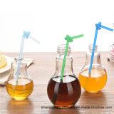 Heet verkoop het Drinken van de Vorm van de Bol van de Fles van het Glas van de Manier van de Fles van de Drank Glas