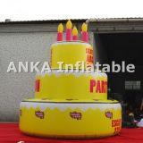 20FT hohe riesige aufblasbare Geburtstag-Kuchen-Zeichen-Karikatur
